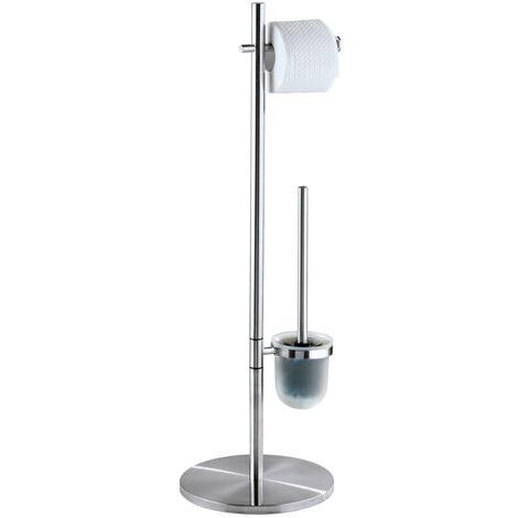 WENKO Stand Toilettenbürste Pieno Toilettenbürstenhalter Toilette Klobürste WC-Ständer
