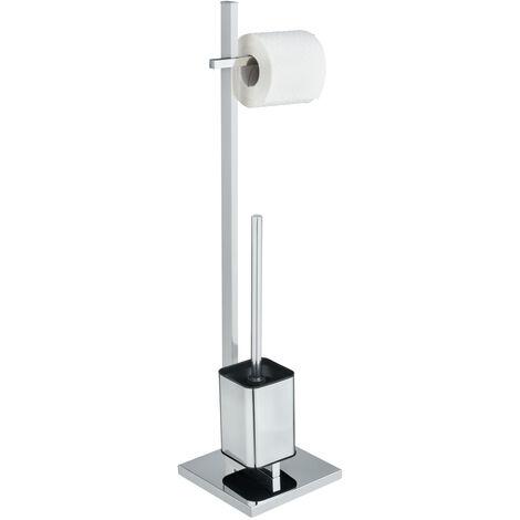 WENKO Stand Toilettenbürste Quadro Toilettenbürstenhalter Toilette Klobürste