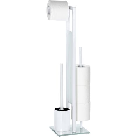 WENKO Stand Toilettenbürste Rivalta Weiß Toilettenbürstenhalter Toilette Klobürste