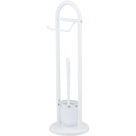 WENKO Stand Toilettenbürste Siena Weiß Toilettenbürstenhalter Toilette Klobürste