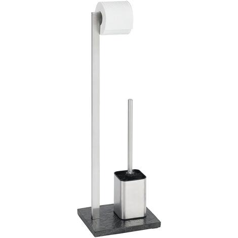 WENKO Stand Toilettenbürste Slate Rock Toilettenbürstenhalter Toilette Klobürste