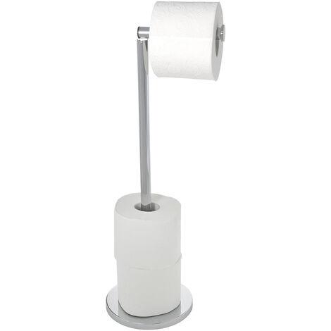 WENKO Stand Toilettenpapierhalter 2 in 1 Ersatzrollenhalter Papierrolle