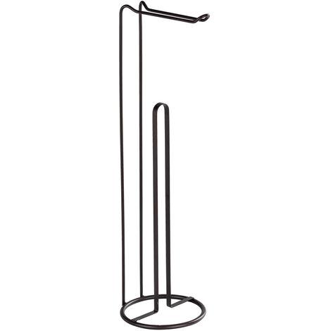 WENKO Stand Toilettenpapierhalter 2 in 1 Lugano