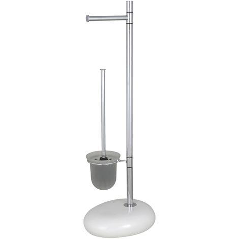 WENKO Stand WC-Garnitur Pebble Stone, weiß