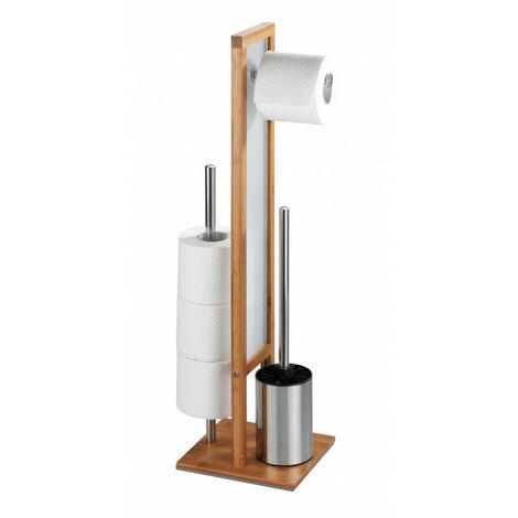 """WENKO Stand WC-Garnitur Rivalta Bambus, integrierter Toilettenpapierhalter und WC-Bürstenhalter-""""15269145"""""""