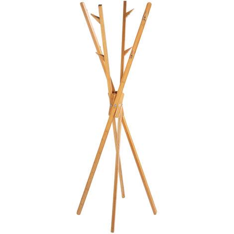 WENKO Standgarderobe Mikado aus Bambus Hängeschrank Hängeregal Diele Flur Garderobe