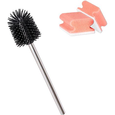 WENKO Tête rechange brosse wc noir silicone, ø7,5 cm
