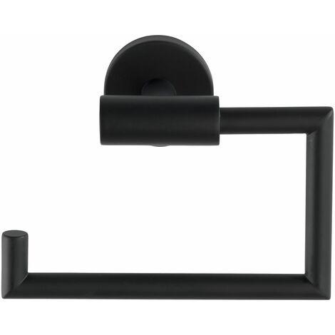 Wenko Toilettenpapierhalter Bosio Black matt ohne Deckel, Edelstahl rostfrei - Matt