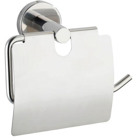 WENKO Toilettenpapierhalter Bosio mit Deckel Ersatzrollenhalter Papierrolle