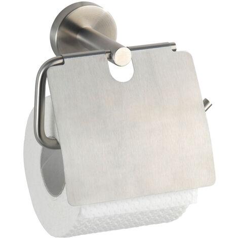 WENKO Toilettenpapierhalter mit Deckel Bosio Ersatzrollenhalter Papierrolle