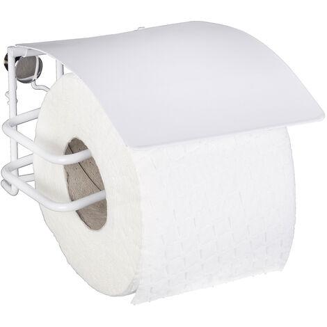 WENKO Toilettenpapierhalter mit Deckel Classic Plus Ersatzrollenhalter Papierrolle