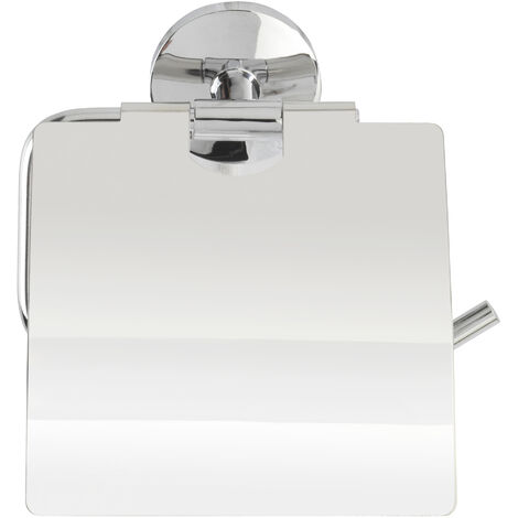 WENKO Toilettenpapierrollenhalter Cuba m. Deckel Rollenhalter Bad-Accessoires WC