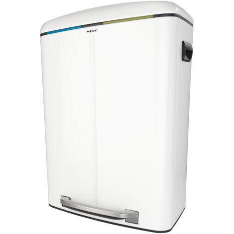 Treteimer Mülleimer Abfalleimer 2 x 20 L Absenkautomatik Küche Bad WC Büro Pedal