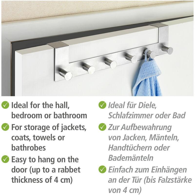 4 Stück Türhaken Hakenset Handtuchhalter Garderobenhaken Türgarderobe Haken
