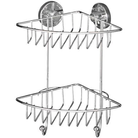 WENKO Vacuum Loc BARI Eckregal Bad Regal Wandablage Ablage Aufbewahrung Dusche
