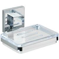 WENKO Vacuum-Loc® Edelstahl Seifenablage Quadro Ablage Bad-Accessoire Badezimmer