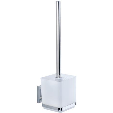 WENKO Vacuum-Loc® Edelstahl Toilettenbürste Quadro Toilettenbürstenhalter Toilette