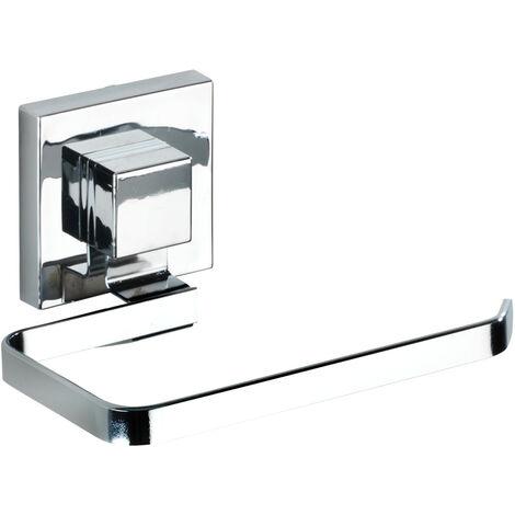 WENKO Vacuum-Loc® Edelstahl Toilettenpapierhalter Quadro Ersatzrollenhalter