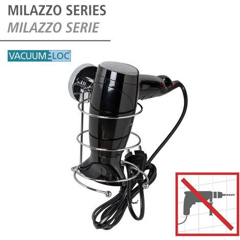 WENKO Vacuum-Loc® Haartrocknerhalter Haartrockner Föhnhalter Vakuum Befestigen ohne