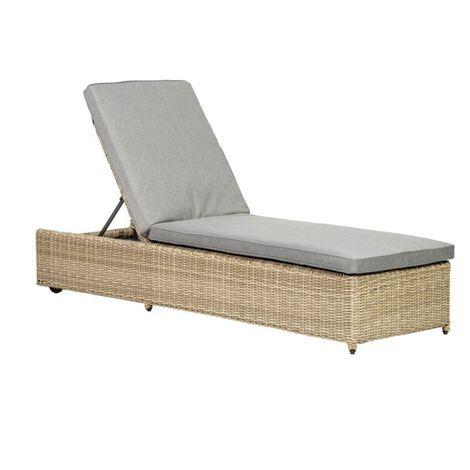 Wentworth Sun Lounger Incl Grey Cushion