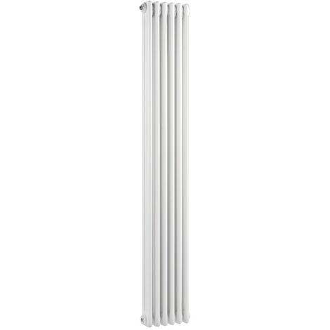 Wentworth Triple Column White 6 Panel Radiator 290mm x 1500mm