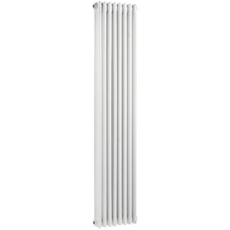 Wentworth Triple Column White 8 Panel Radiator 380mm x 1500mm
