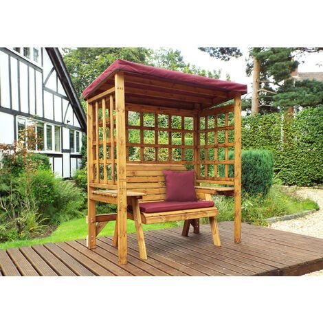 Wentworth Two Seat Arbour Burgundy - Fully Assembled