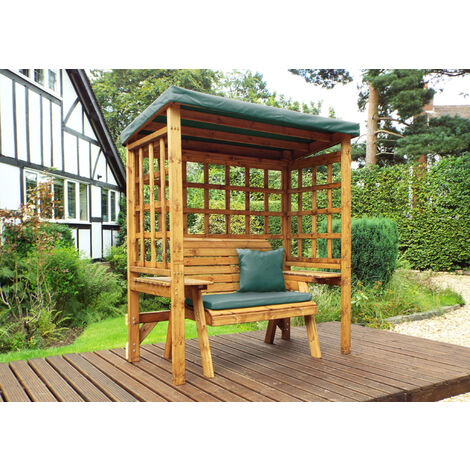 Wentworth Two Seat Arbour Green - Fully Assembled