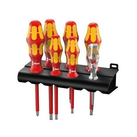 Wera 006147 Kraftform VDE Screwdriver Set of 7 4 x SL 2 x PH 1 x Volt