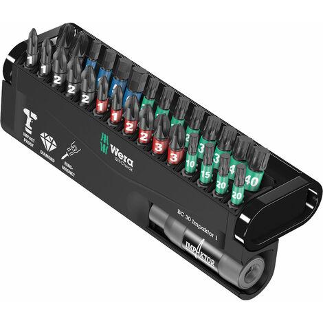 Wera 05057690001 BC30 Impaktor Bit-Check PH/PZ/HEX/TORX, 30-Piece Set