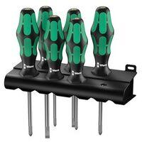 Wera 105656 Kraftform Plus 334/355/6 Screwdriver Set of 6 4 x SL 2 x PZ