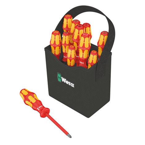 Wera Kraftform+ VDE Screwdriver Set + 2GO Tote Bag Set 12pc