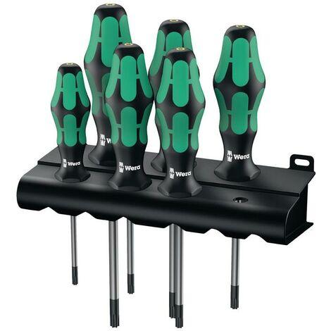 Wera Schraubendrehersatz Schraubendrehersatz 367/6 6-teilig TORX® 2-Komponentengriff Rundklinge
