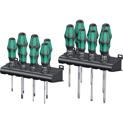 Wera Schraubendrehersatz Schraubendrehersatz Kraftform Big Pack 300 14-teilig Schlitz/PH/PZD/TX 2-Komponentengriff Rundklinge