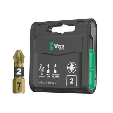 Wera WER057762 Bit-Box 20 BTH BiTorsion Extra-Hard Bits PZ2 x 25mm 20 Piece