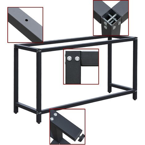 Werkbankgestell B50xL150xH80cm Tischgestell Arbeitstisch Werkbank Packtisch Tisch Gestell