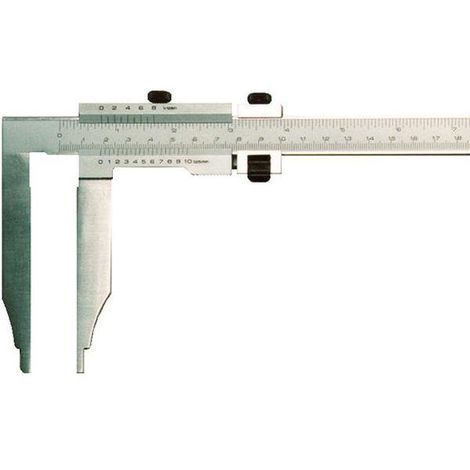 Werkstattmessschieber, Mb 300 mm, ohne Spitzen, mit Feineinstellung