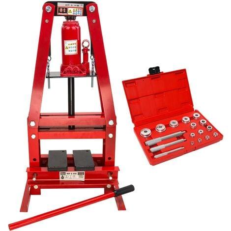Werkstattpresse 6 Tonnen + Lager Treibsatz 14-tlg LT17 SET Hydraulik-Presse
