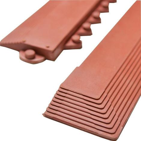 WerkzeugHERO Gummikantenprofil rot m. Knopfl.rechts 990X75mm