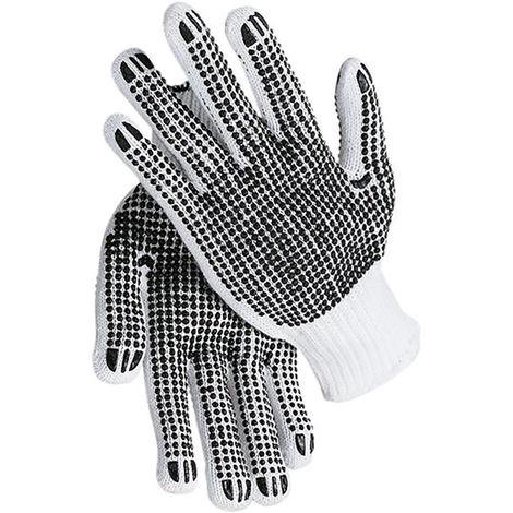 1 Paar Arbeitshandschuhe Noppen Strickhandschuhe Gr.10 Handschuhe Verpackung Gar