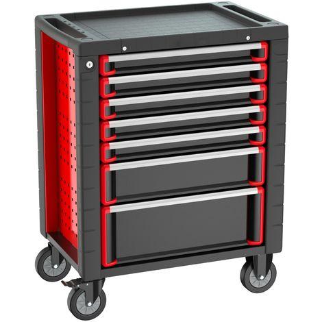 Fahrbarer Werkstattwagen Werkzeugwagen Rollwagen Werkzeugkasten 5 Schubladen