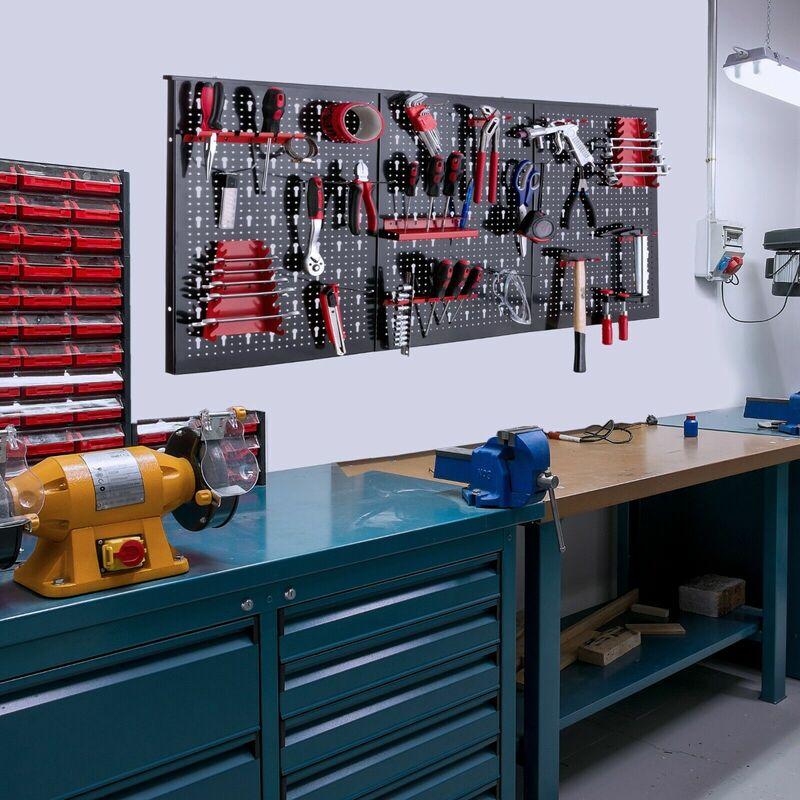Bekannt Werkzeugwand (mit 17 Haken, 120 x 60 cm) Lochwand Werkstattwand IC58