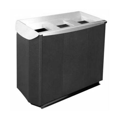 Wertstoffsammelsystem | 3-fach Station | lackiert | Certeo Abfalltrennsystem