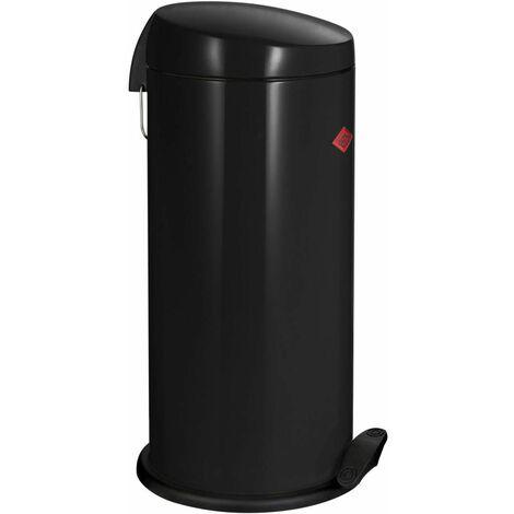 Wesco Abfallsammler Capboy Maxi Base, Tretabfallsammler, Mülleimer, Schwarz, Stahlblech, 22 L, 121531-62