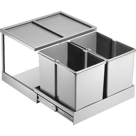 Einbau Mülleimer 2 Fach : wesco automatic shorty 757311 11 einbau abfallsammler ~ Watch28wear.com Haus und Dekorationen