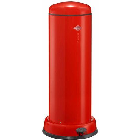 Wesco Tretabfallsammler Big Baseboy mit Dämpfer, Abfallsammler, Abfalleimer, Mülleimer, Stahlblech, Rot, 30 L, 134731-02
