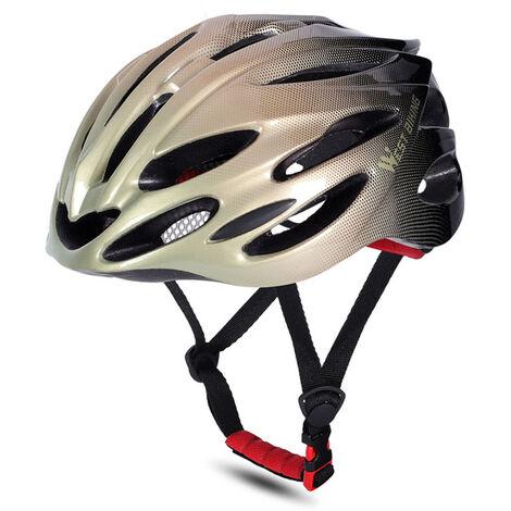 WEST BIKING Cascos de bicicleta MTB Carretera Cascos de bicicleta Gorra de seguridad Ciclismo Protecciones Cascos, Negro, oro y negro