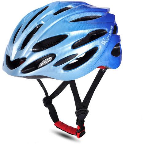 WEST BIKING Cascos de bicicleta MTB Carretera Cascos de bicicleta Gorra de seguridad Protecciones de ciclismo Cascos, Azul