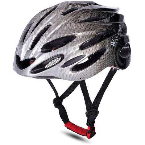 WEST BIKING Cascos de bicicleta MTB Carretera Cascos de bicicleta Gorra de seguridad Protecciones de ciclismo Cascos, gris y negro