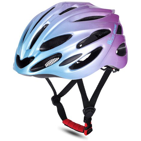 WEST BIKING Cascos de bicicleta MTB Carretera Cascos de bicicleta Gorra de seguridad Protecciones de ciclismo Cascos, morado y azul